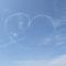 空にハートの雲