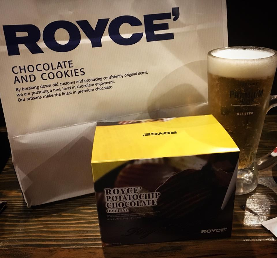 チョコポテチとビール