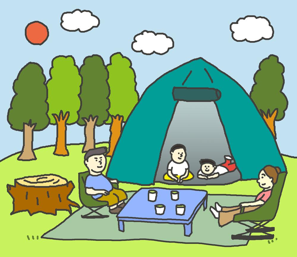 キャンプ イラスト